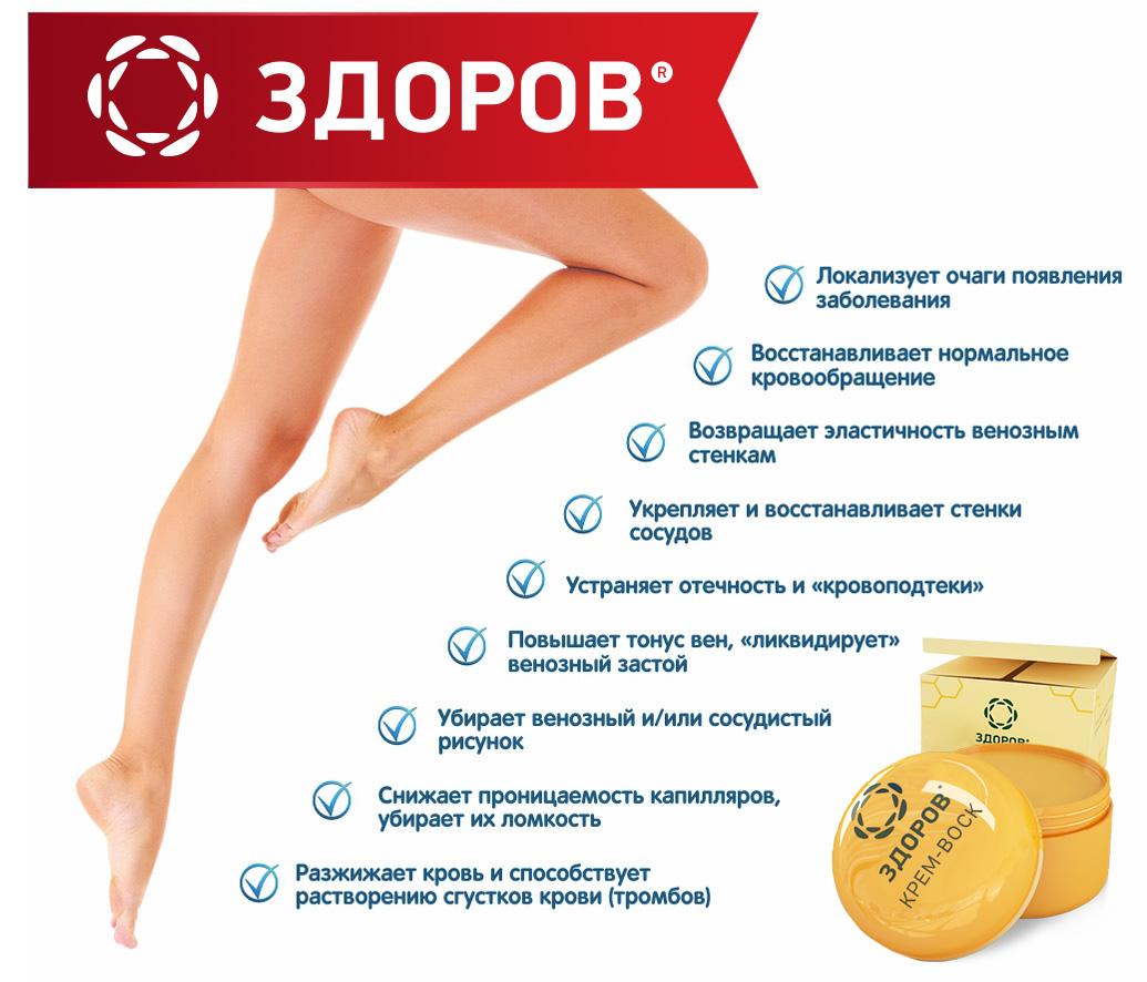 Купить крем-воск против варикоза ЗДОРОВ в аптеке