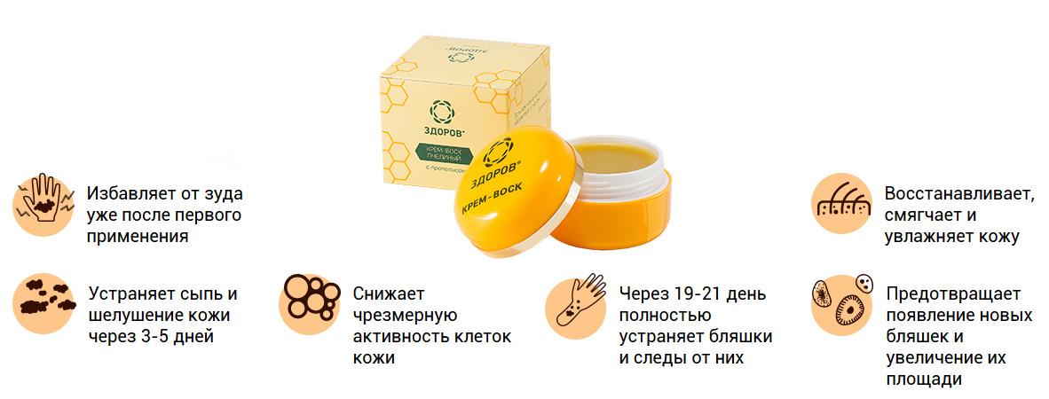 Приобрести крем-воск от дерматита ЗДОРОВ в аптеке