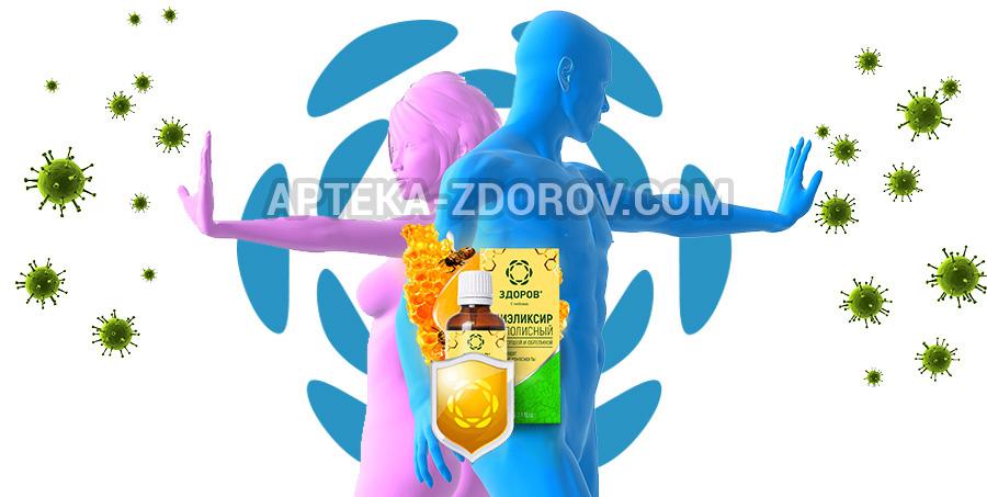 Защита иммунитета эликсиром ЗДОРОВ